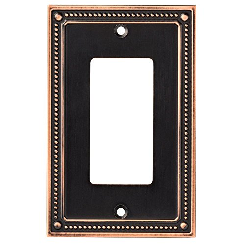 (Franklin Brass W35060-VBC-C Classic Beaded Single Decorator Wall Switch Plate/Cover, Bronze with Copper)