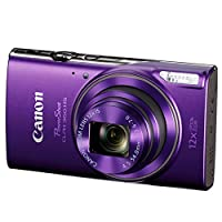 Canon PowerShot ELPH 360 HS Digital Camera (Purple) + Transcend 32GB Memory Card + Camera Case + USB Card Reader + LCD Screen Protectors + Memory Card Wallet + Cleaning Pen + Complete Accessory Bundle by Canon