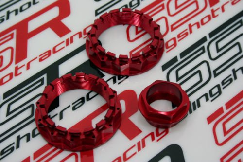 Red Ducati Front Rear Wheel Axle Nut Diavel Carbon 1098 1199 Panigale