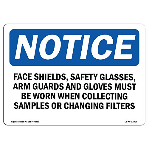 A-arm Aluminum Guards (OSHA Notice Sign - Face Shields, Safety Glasses, Arm Guards   Choose from: Aluminum, Rigid Plastic or Vinyl Label Decal   Protect Your Business, Work Site, Warehouse & Shop Area   Made in The USA)