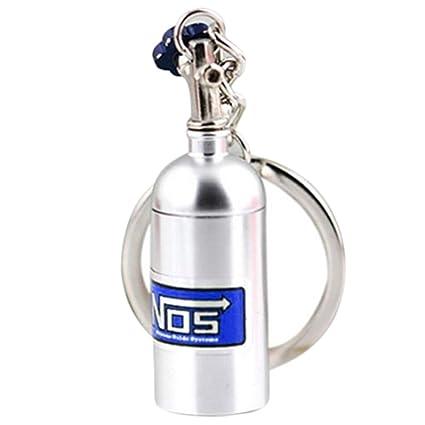Turbo Llavero óxido nitroso y # xFF0 C; Botella metal ...