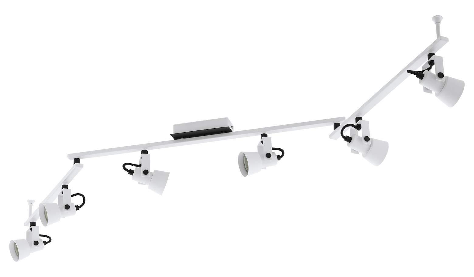 Trillo 6-Light Track Light in White & Black