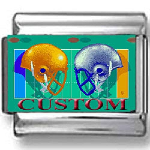 Custom Football Photo Italian Charm ()