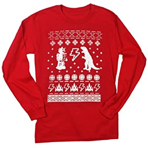Happy Family Clothing Geeky Ugly Christmas Sweater Long Sleeve T-Shirt