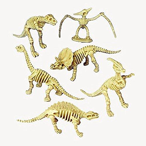 (4 Dozen (48) DINOSAUR Skeleton Figures - 3.5