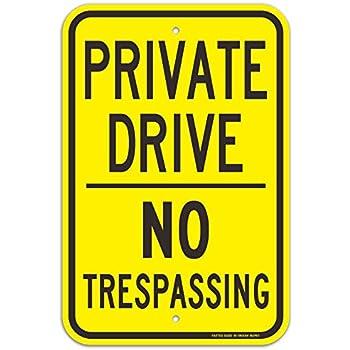 Amazon.com: Tags America Private Drive - Cartel de metal de ...