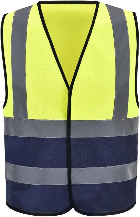 Auto Warnweste Sicherheitsweste Pannenweste Für Auto Fahrrad Waschbar Arbeschutzkleidung 3xl Gelb Marine Baumarkt