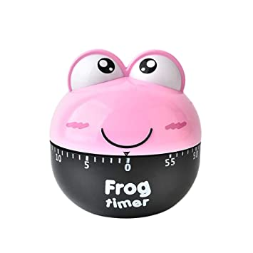 Weite Cute Kitchen Timer Mini Cartoon Frog Shaped 60 Minutes Mechanical Timer Countdown Timer For
