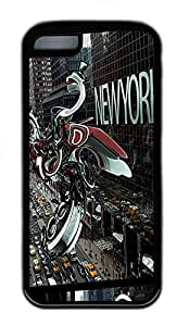for iphone 4/4s Case Abstract New York Street TPU Custom for iphone 4/4s Case Cover Black