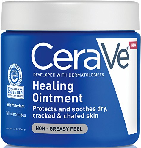 CeraVe Healing Ointment | 12 Ounce | Cracked Skin Repair Skin Protectant with Petrolatum Ceramides | Lanolin & Fragrance Free (Ointment Eczema)
