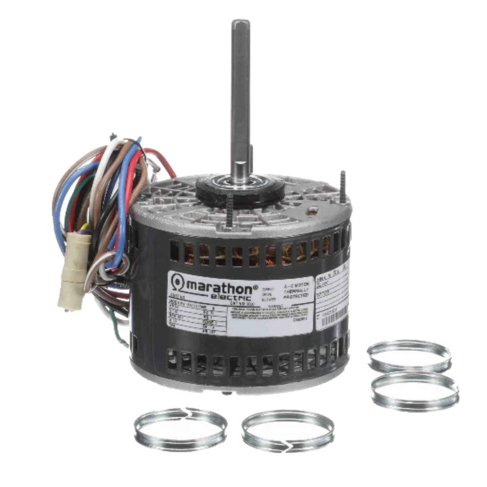 Marathon X013 48Y Frame Open Air Over 48A17O152 Direct Drive Motor 1/4 hp, 1625 RPM, 115 VAC, 1 Phase, 3 Speeds, Ball Bearing, Permanent Split Capacitor, Thru-Bolt