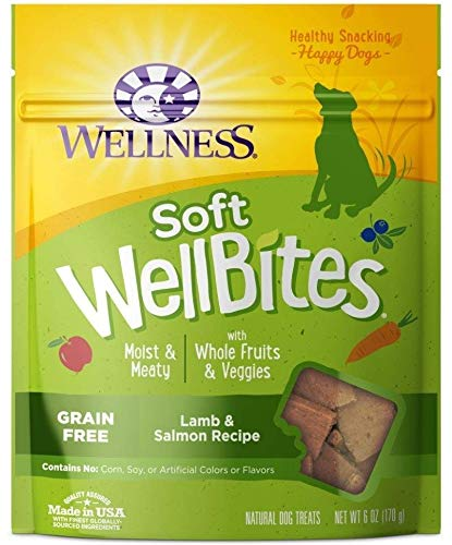 Wellness Wellbites Soft Natural Dog Treats, Lamb & Salmon, 8-Ounce Bag ()