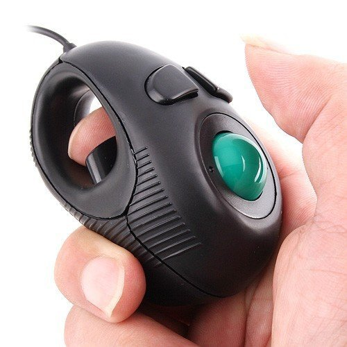 Eximone Mini Portable Handheld Finger Ring 4D Mini Trackball Mouse Eximtrade mouse/11/wired