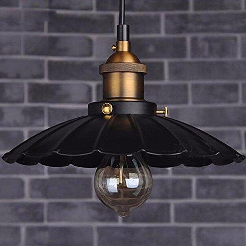 Retro Vintage hierro Industrial Loft luz lámpara colgante de techo araña Adorno 25*25*14cm,negro