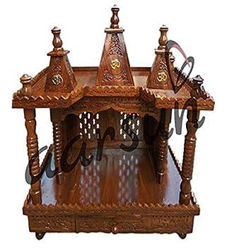 Aarsun Woods Temple / Home Temple / Wood Mandir / Pooja Ghar / Sheesham Wood Puja Ghar <span at amazon