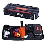 Vinmax 9000mAh Portable 12V Car Jump Starter Pack Booster Emergency Battery Charger 4 USB Ports Power Bank Phone PC Charger/LED Flashlight/Smart Protection