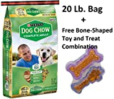 Purina Dog Chow Complete Adult Dog Food, 6 - 20 lb. Bag + Free Toy