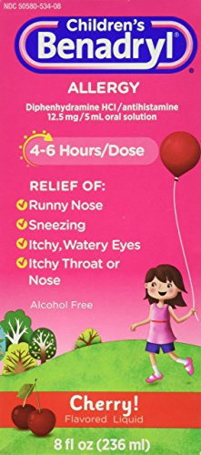 Benadryl Child Cherry Allergy Syrup, 8 Fluid (Childrens Benadryl)