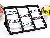 Tomasar Sunglasses Organizer, 18 Slots Sunglasses Storage Display Box Sunglasses Display Case (US Stock) (Eyewear - 18 Slots)