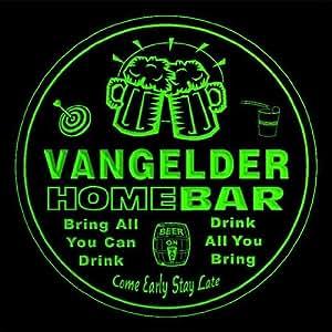 4 x ccq46467-g VANGELDER cartel de forma de Pub club cerveza diseño de 3D posavasos