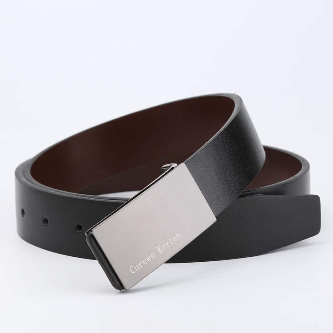 Clothing Belt Mens Leather Alloy Smooth Buckle Waistband Fashion Elegant Charm Cool Formal Business Luxury Belt Waist Strap