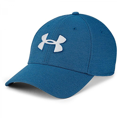 Under Armour Men's Heathered Blitzing 3.0 Cap, Moroccan Blue (487)/White, (Under Armour Embroidered Beanie)