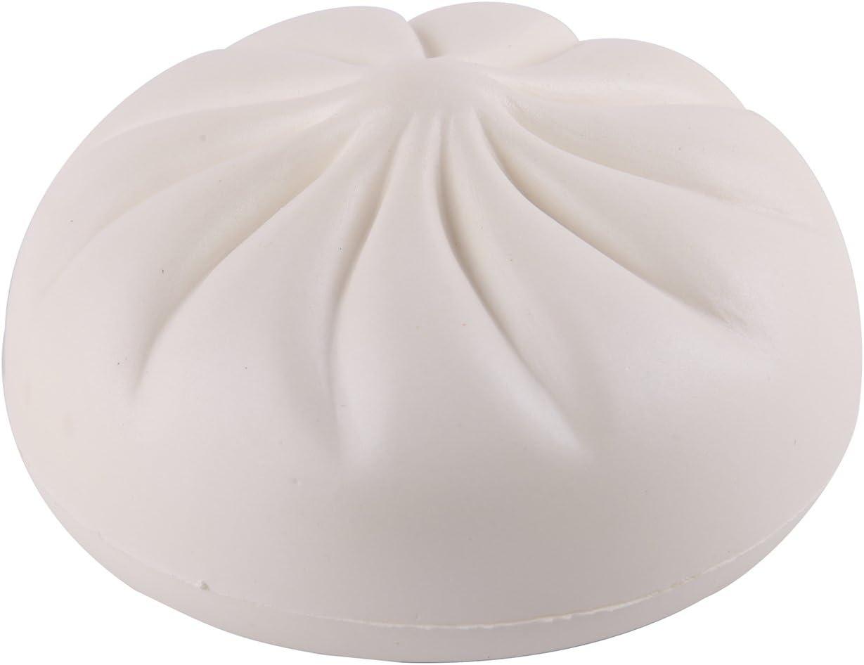 Anboor 5.5 Inches Jumbo Slow Rising Kawaii Sweet Scented Steamed Creamy Custard Bun Squishies,White 1 Pcs