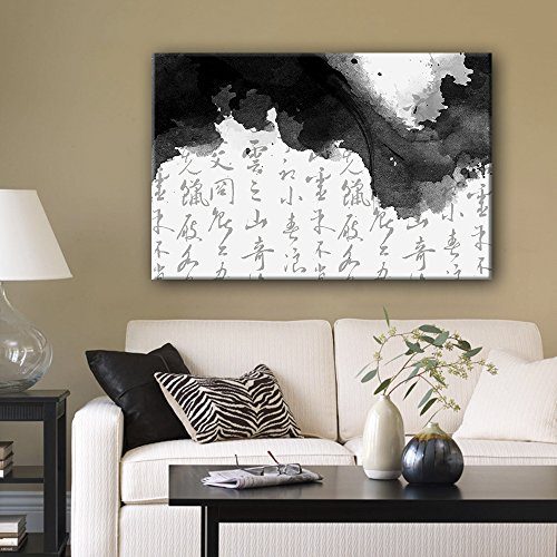 Chinese Ink Painting with Ink and Calligraphy