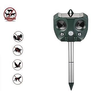 YUN MY GIRL Animal Expeller Multifunción Solar Energy Ultrasonic Outdoor PIR Sensor Shooting Dispositivo de Ultrasonido