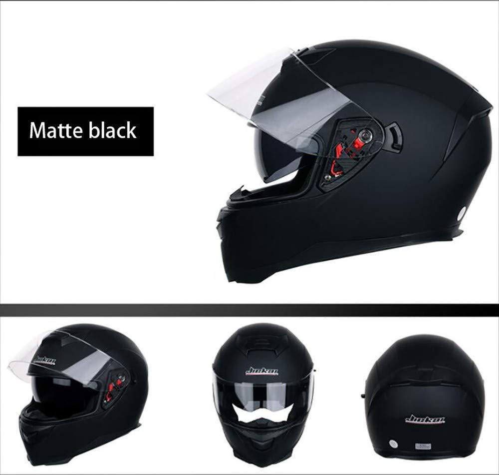 MOMAMO Motorradhelm Integral-Helm,Motorradhelm Integralhelm Rollerhelm Fullface Helm Sturzhelm ECE mit Doppelvisier Sonnenblende f/ür Damen Herren Erwachsene-Schwarz