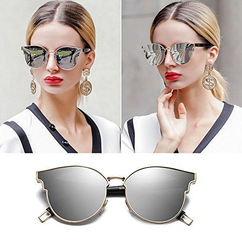 UV Espejo ProteccióN Polarizadas Large Frame De De Color Gafas Silver Sol ConduccióN Film TESITE Gafas Ms 100 wq7xOzIP