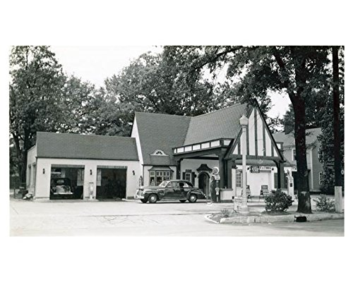 1941 Pure Oil Gas Station Photo Poster Clinton South Carolina Gas Globe from AutoLit