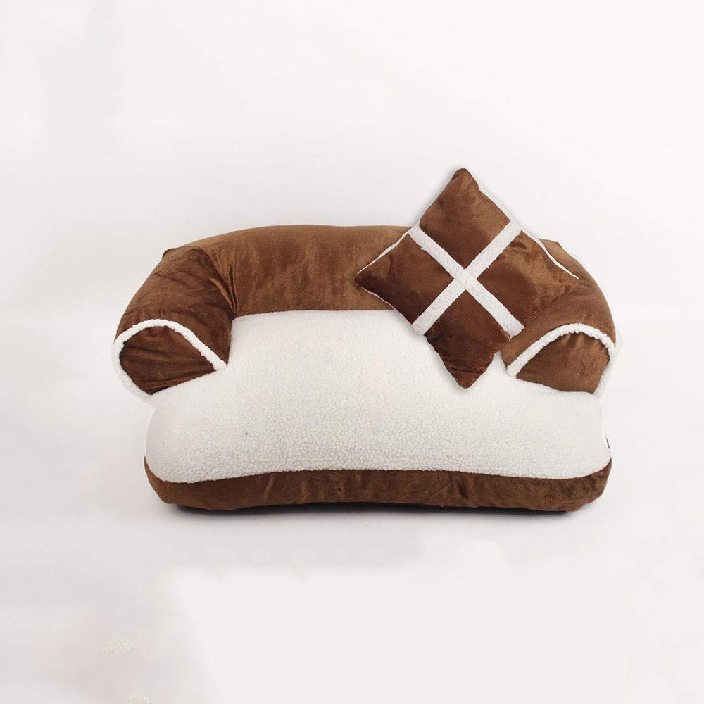 Brown S Brown S Alapet Fully Removable and Washable Sofa Nest, Three-Dimensional PP Cotton Filled Soft and Not Collapsed, U-Shaped Multi-color Optional Multi-Size Optional Pet Nest, Comfortable and Durable