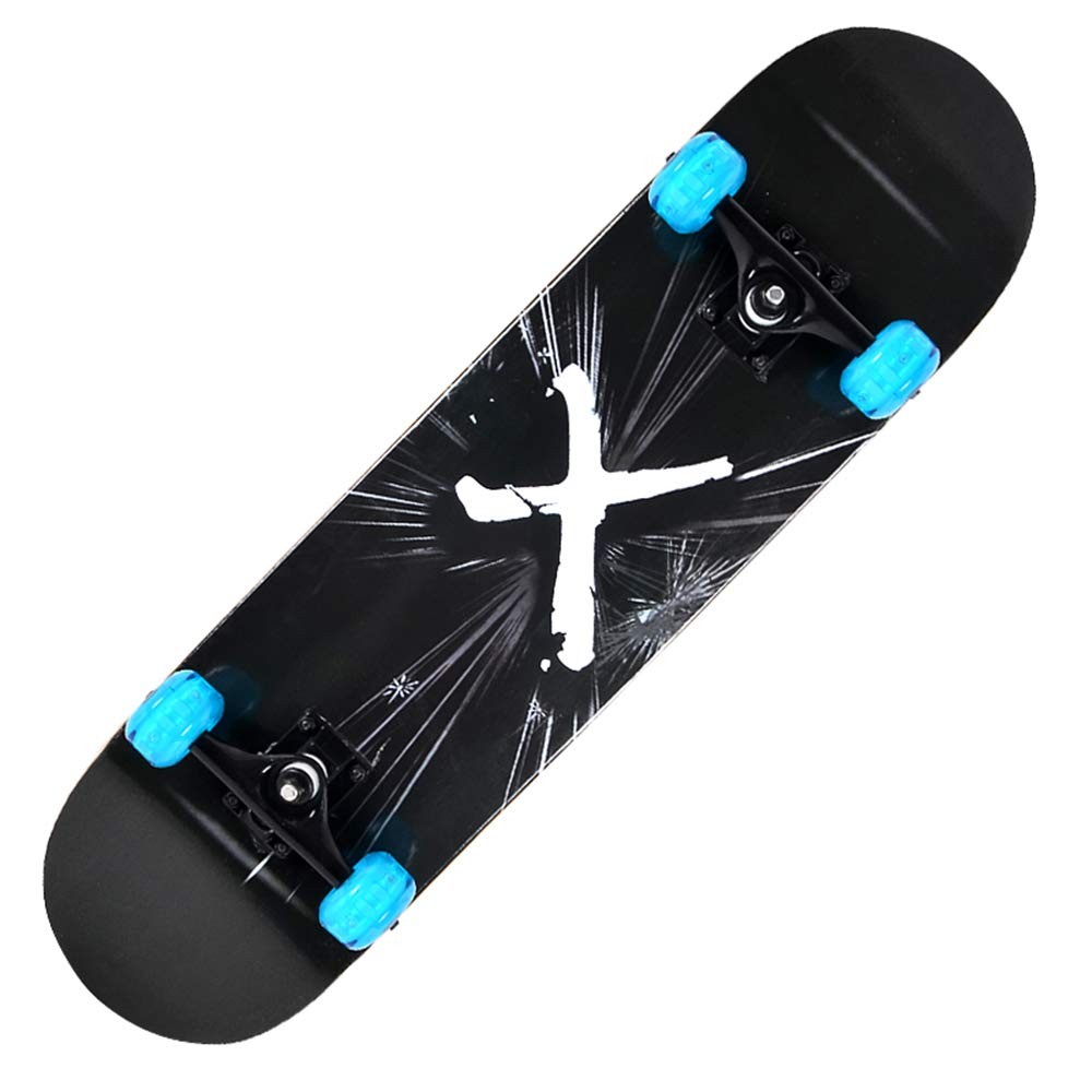 KD Fancy Skate PU Flash Rueda Skate De Lujo Especial-Propósito Que Todavía Deslumbrante En La Noche Cepillo Street Road Skate Especial,1