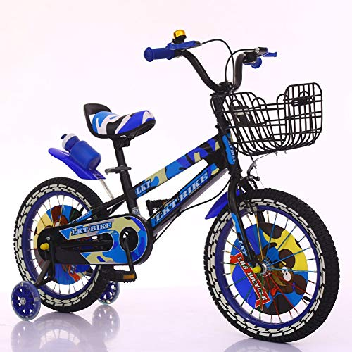 Price comparison product image Children Bicycle,with Basket 12 14 16 inch 2.5-7 Years Old-Blue 40.2inch