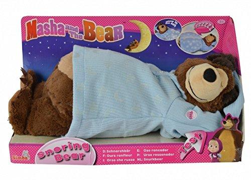 Masha and the Bear Snoring and Glowing Bear, Soft Plush Mish