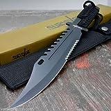 """AvaLittle 13"""" Tactical Survival Rambo Full Tang Fixed Blade Cuchillo de Caza con Vaina"""