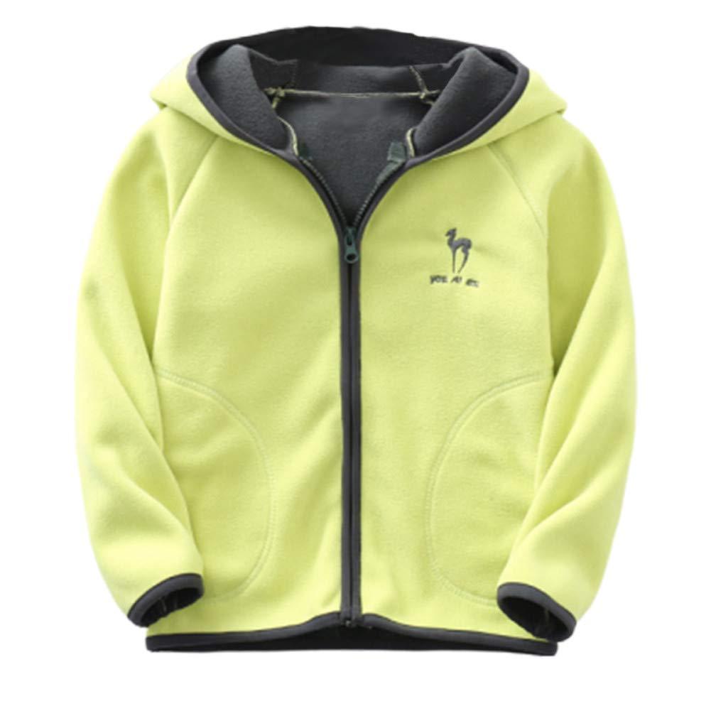 LittleSpring Kids Full-Zip Polar Fleece Jacket with Hood for 2-8 Years