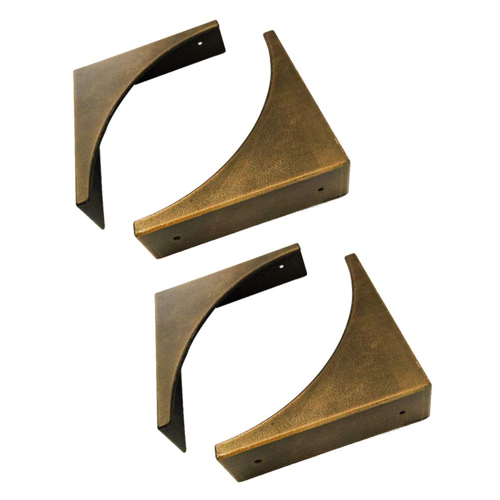 Ibnotuiy 4 Pcs Retro Bronze Furniture Corner Protectors Metal Box Edge Safety Guards