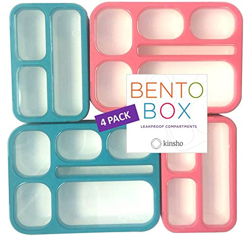 Bento Box Lunch Boxes and Snack Containers for Kids Girls Boys | Leakproof Portion Container Kits BPA Free | Value Pack…