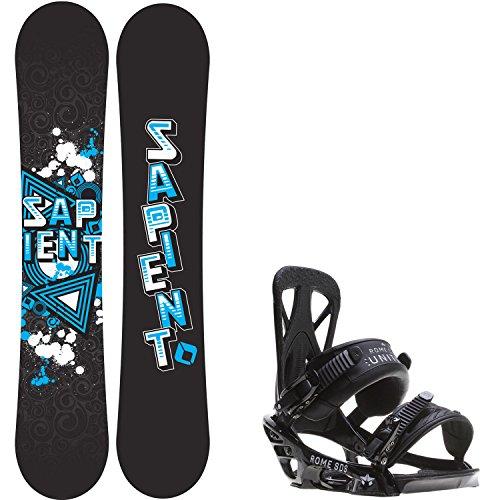 Sapient Trust 152 Mens Snowboard + Rome United Bindings - Fits US Mens Boots Sizes: 7,8,9,10 (Mens Rome Snowboard Package compare prices)