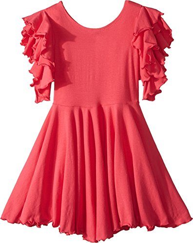 fiveloaves twofish Girl's Amelia Stretch Fit & Flare Dress (Big Kids) Coral - Kids Flare