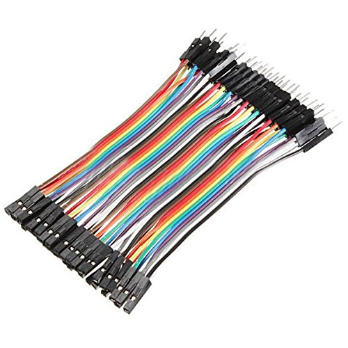 Foxnovo Breadboard Jumper Wires 1 pin 10CM Male to Female Jumper Cable 40 Pcs
