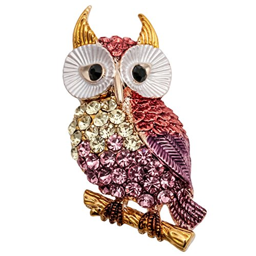Owl Bird Brooch - Szxc Jewelry Ctystal Cute Owl Bird Animal Collection Brooch Pin Pendant for Women