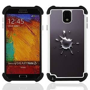 BullDog Case - FOR/Samsung Galaxy Note3 N9000 N9008V N9009 / - / Abstract Splash /- H??brido Heavy Duty caja del tel??fono protector din??mico - silicona suave