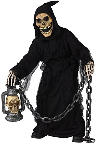 GTH Boy's Grave Ghoul Kids Child Fancy Dress Party Halloween Costume, L (Grave Ghoul Child Costumes)