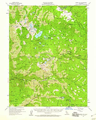 Used, YellowMaps Sierra City CA topo map, 1:62500 Scale, for sale  Delivered anywhere in USA