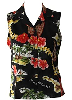 b52e9c0fa2a4 Sales: Made in Hawaii ! Women's Island Treasure Hawaiian Aloha Sleeveless  Shirt
