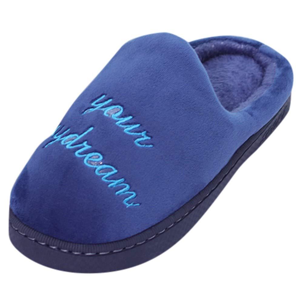 BaZhaHei-Zapatillas de Invierno para Mujer Zapatillas de casa de Dibujos Animados Antideslizantes Calientes Interiores Zapatos de Piso Señ oras Gato de Dibujos Animados cá lido algodó n Zapatos Pareja