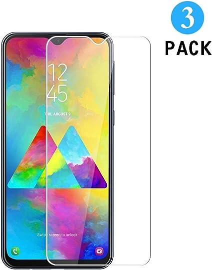 WEOFUN [3 Unidades] Protector de Pantalla Samsung Galaxy M20, Cristal Templado para Samsung Galaxy M20 [0.33mm, 9H, Alta Definicion]: Amazon.es: Electrónica